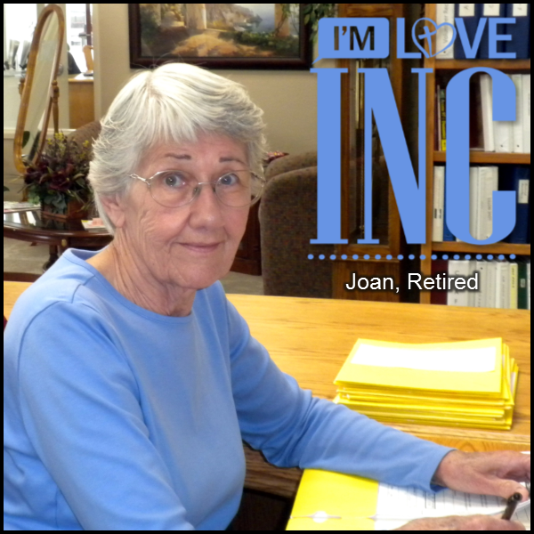 Joan - Serving in the Clearinghouse and Cloth Room