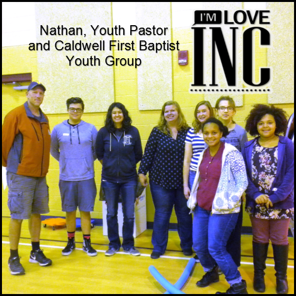 Nathan and Youth Group - Serving in the Children's Program